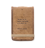 """Leather Journal Mini - Abraham Lincoln 4"""" x 6"""""""