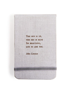 "Fabric Notebook - John Lennon 3.5"" x 5.5"""