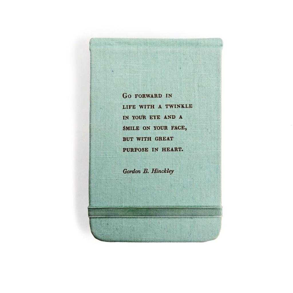 "Fabric Notebook - Gordon B Hinckley 3.5"" x 5.5"""