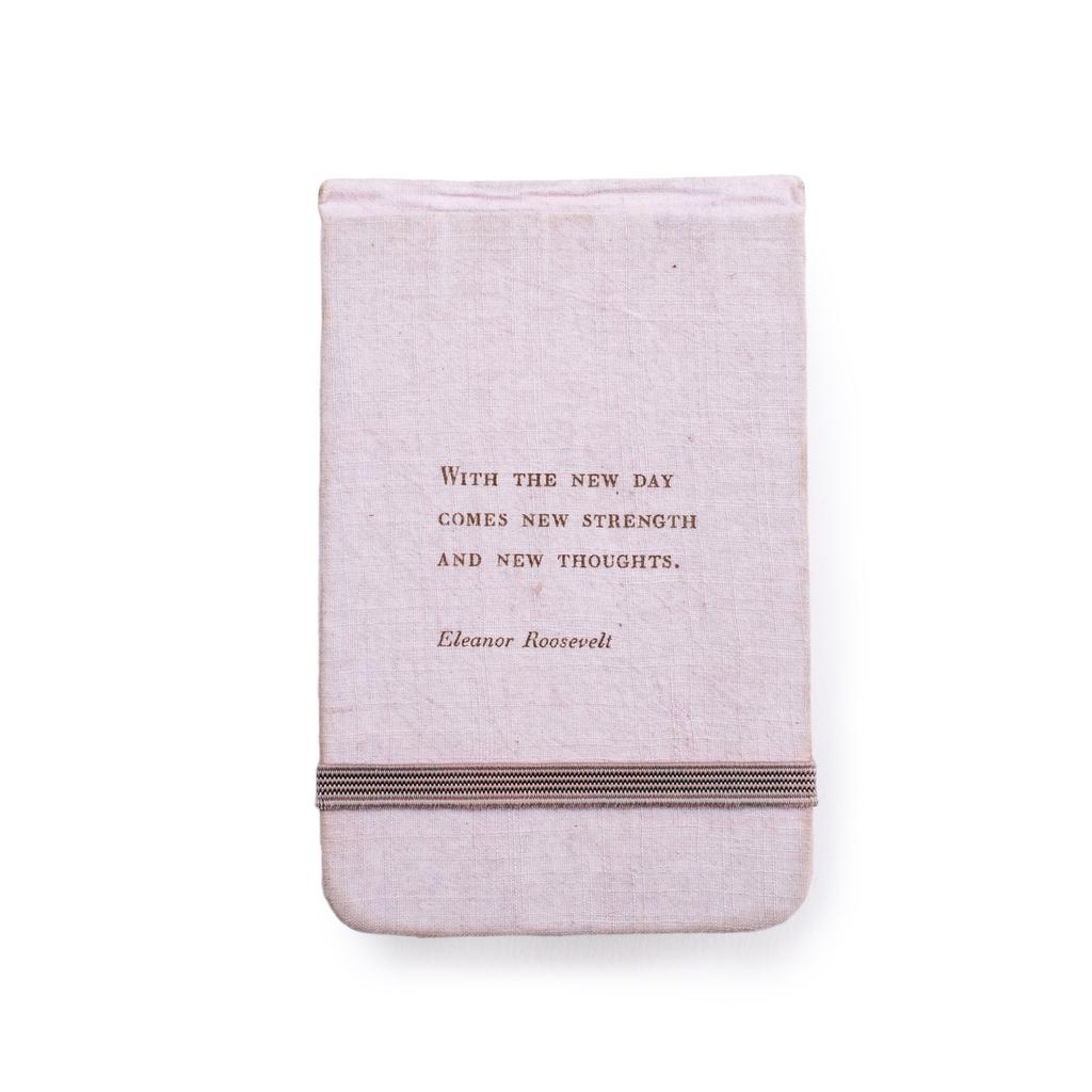 "Fabric Notebook - Eleanor Roosevelt 3.5"" x 5.5"""