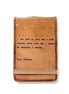 "Leather Journal Mini - Jack Kerouc 4"" x 6"""