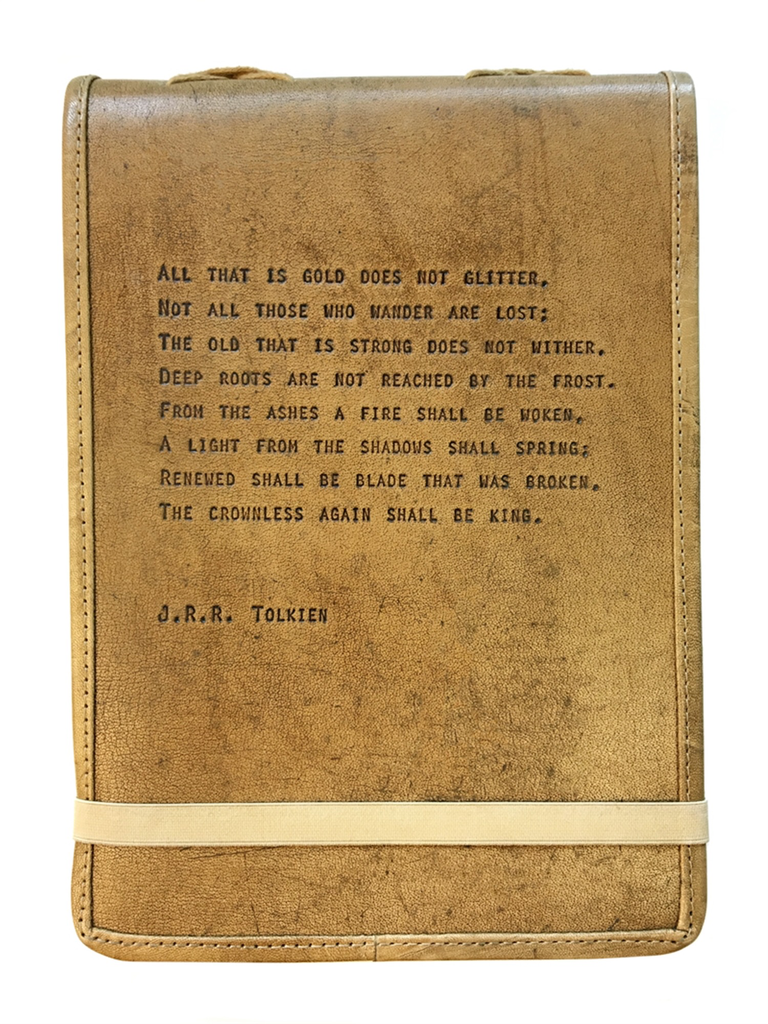 """Leather Journal - J.R.R. Tolkein 7"""" x 9.75"""""""