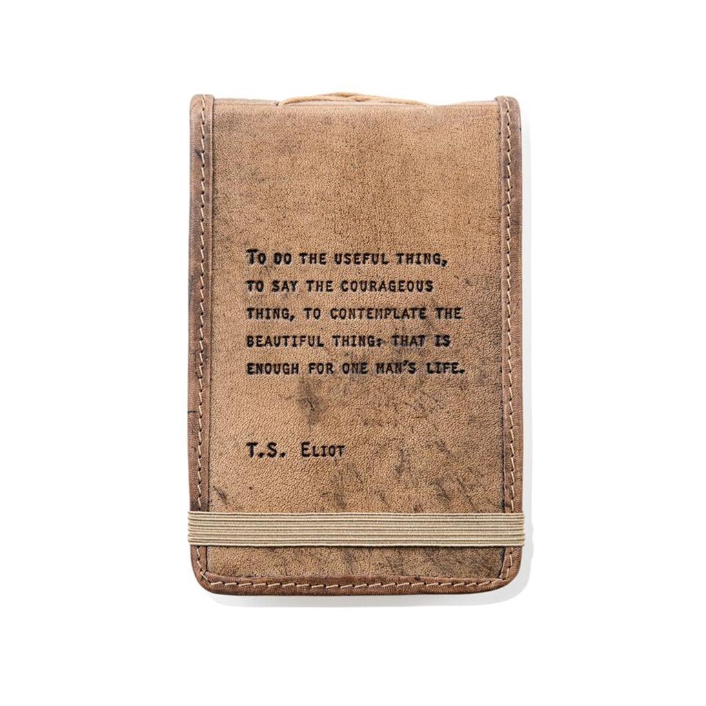"Leather Journal Mini - T. S. Eliot 4"" x 6"""