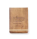 """Leather Journal - St. Francis of Assisi 7"""" x 9.75"""""""