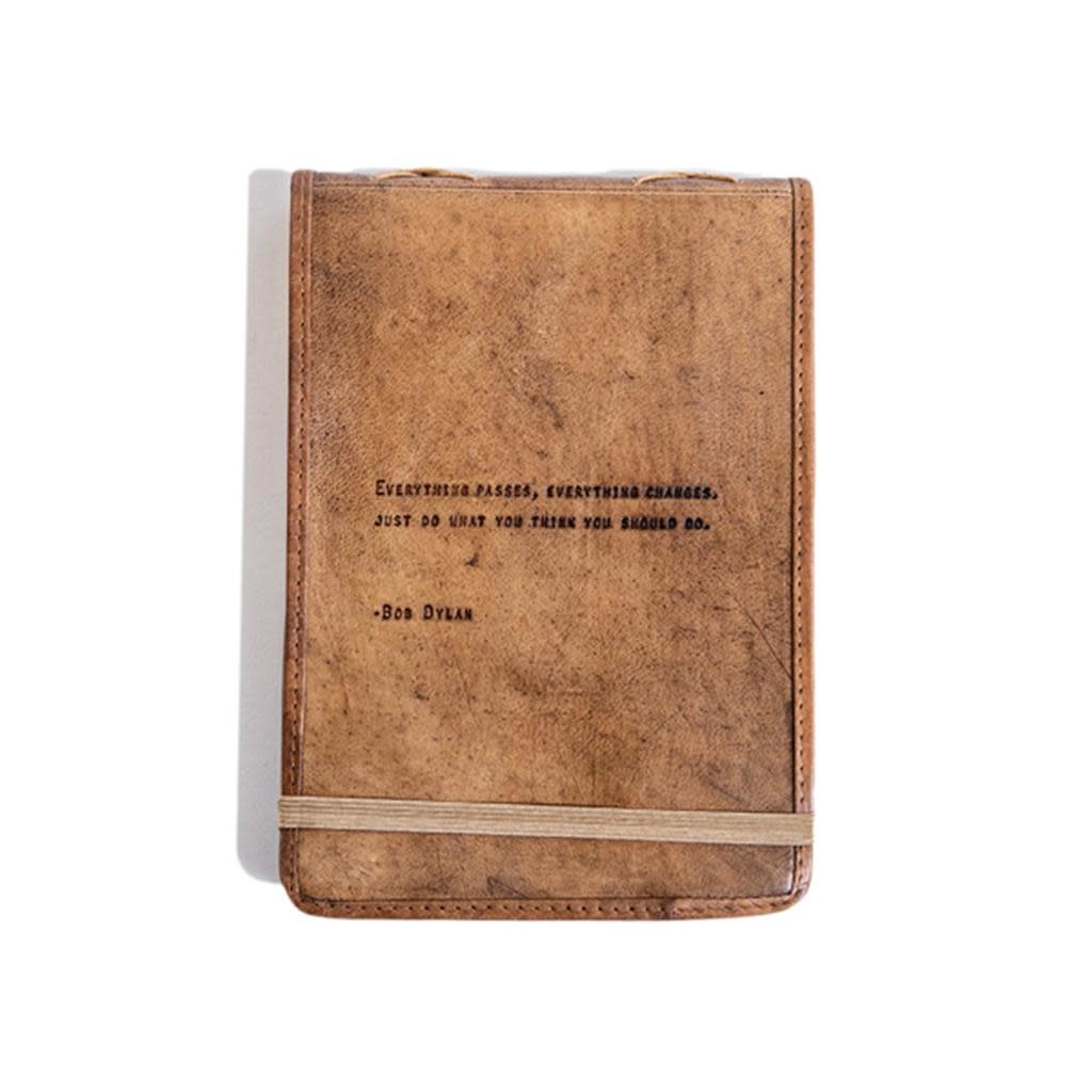 "Leather Journal - Bob Dylan  7"" x 9.75"""