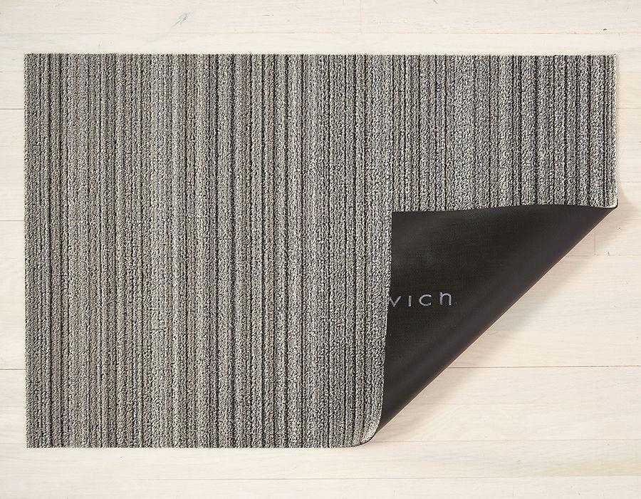 "Chilewich Skinny Stripe Shag Utility Mat- Birch 24"" x 36"""