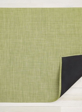 "Chilewich Mini Basketweave Floormat - Dill 23"" x 36"""