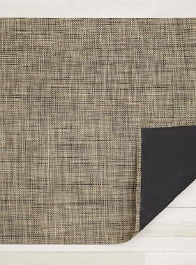 "Chilewich Basketweave Floormat - Bark 35"" x 48"""