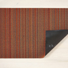 "Chilewich Skinny Stripe Shag Doormat - Orange 18"" x 28"""