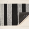 "Chilewich Bold Stripe Shag Doormat - Black & White 18"" x 28"""