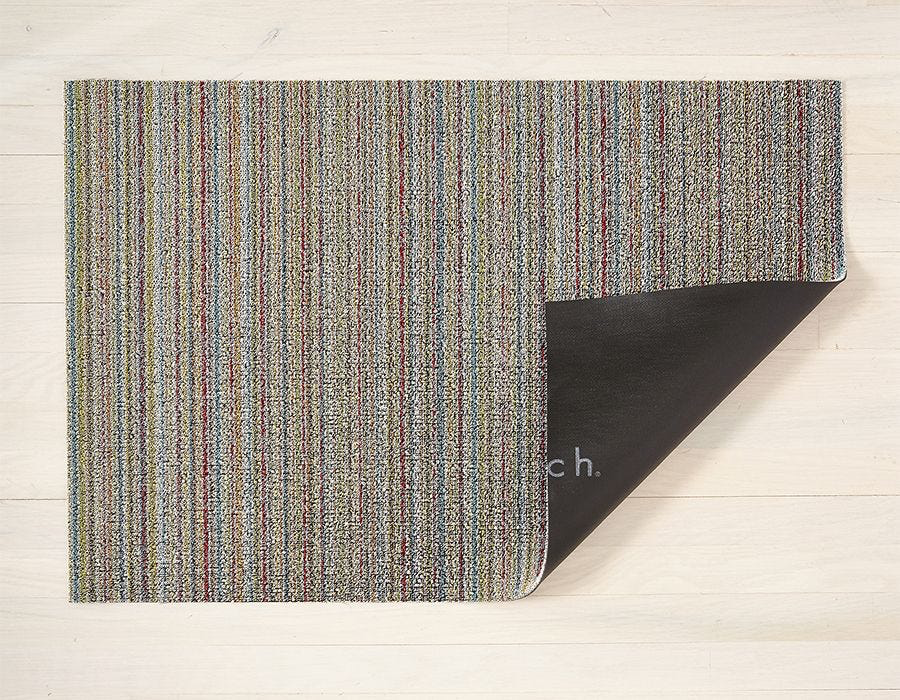 "Chilewich Skinny Stripe Shag Doormat - Soft Multi 18"" x 28"""