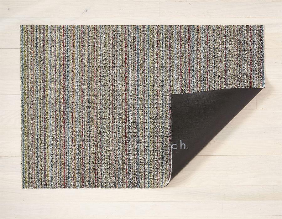 "Chilewich Skinny Stripe Shag Utility Mat- Soft Multi 24"" x 36"""