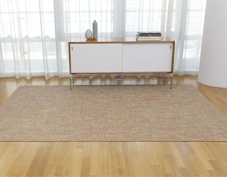 "Chilewich Mini Basketweave Floormat - Pistachio 72"" x 106"""