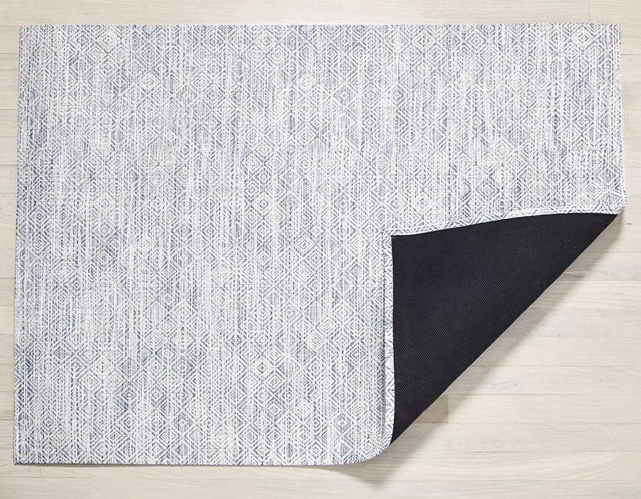 """Chilewich Mosaic Floormat - Blue 35"""" x 48"""""""