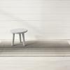 "Chilewich Block Stripe Shag Big Mat- Taupe 36"" x 60"""