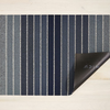 "Chilewich Block Stripe Shag Utility Mat- Denim 24"" x 36"""