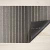 """Chilewich Block Stripe Shag Doormat- Taupe 18"""" x  28"""""""