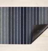"""Chilewich Block Stripe Shag Doormat- Denim 18"""" x  28"""""""