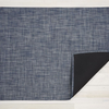 """Chilewich Basketweave Floormat - Denim 72"""" x 106"""""""