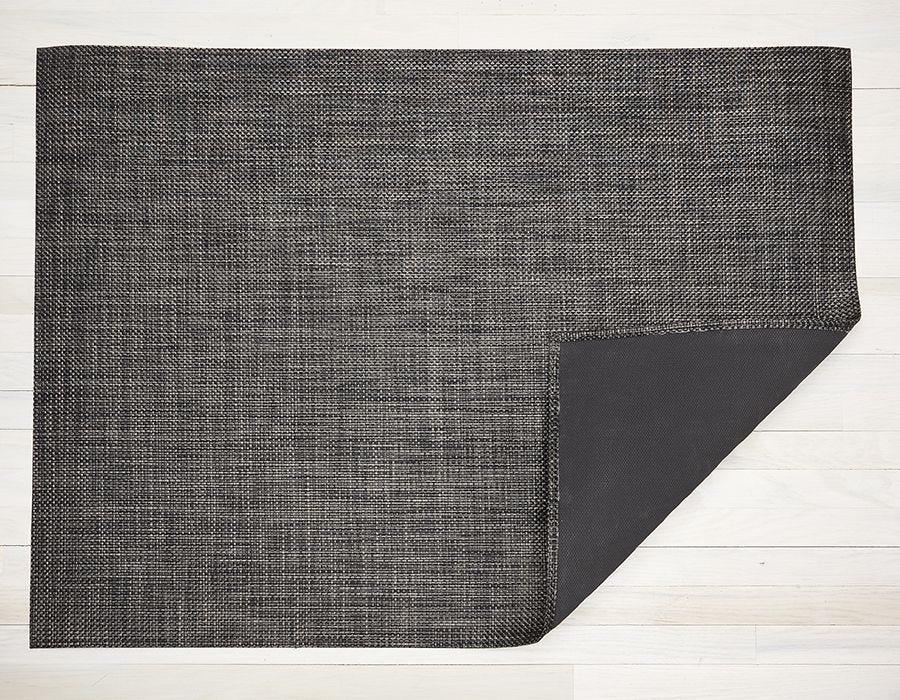 "Chilewich Basketweave Floormat - Carbon 26"" x 72"""