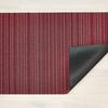"Chilewich Skinny Stripe Shag Doormat - Raspberry 18"" x 28"""