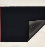 "Chilewich Simple Stripe Shag Doormat - Navy Coral 18"" x 28"""