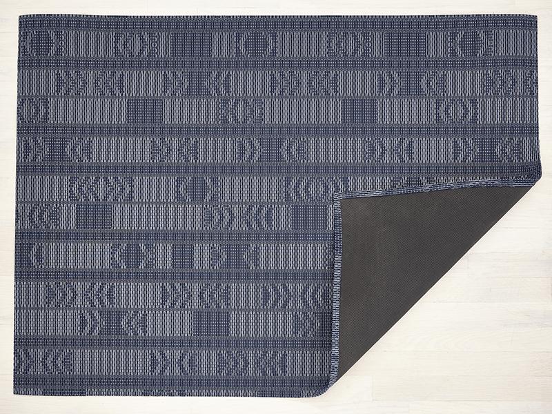 "Chilewich Scout Floormat - Midnight 46"" x 72"""