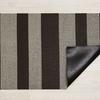 "Chilewich Bold Stripe Shag Doormat - Pebble 18"" x 28"""
