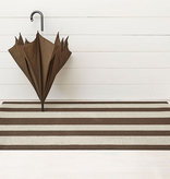 "Chilewich Bold Stripe Shag Big Mat - Pebble 36"" x 60"""