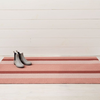 "Chilewich Bold Stripe Shag Big Mat - Peach 36"" x 60"""