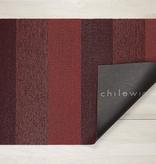 """Chilewich Marble Stripe Shag Doormat - Ruby 18"""" x 28"""""""