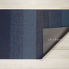 "Chilewich Marble Stripe Shag Doormat - Bay Blue 18"" x 28"""