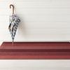 """Chilewich Marble Stripe Shag Big Mat - Ruby 36"""" x 60"""""""