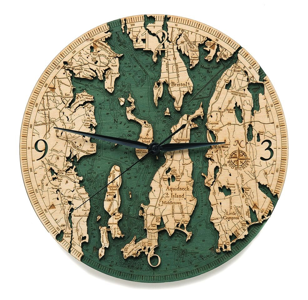 Narragansett Wood Clock 12""