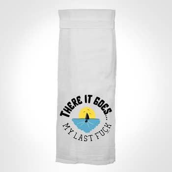 Flour Sack Kitch Towel - There It Goes