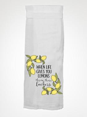Flour Sack Kitch Towel - Throw Lemons