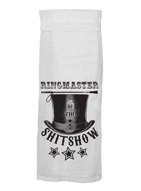 Flour Sack Kitch Towel - Ringmaster Shitshow