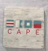 cape flag Coaster -Natural Stone