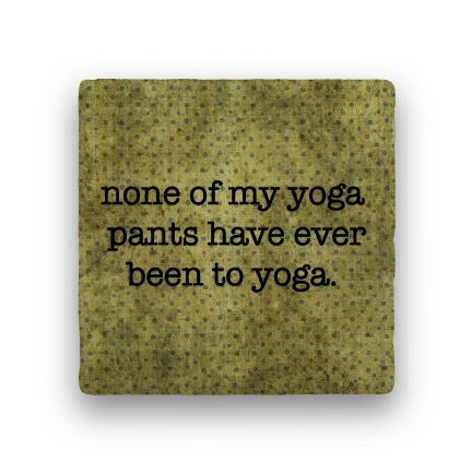 none of my yoga Coaster - Natural Stone