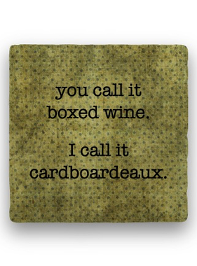 you call it boxed wine Coaster - Natural Stone