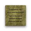 2 dyslexics run Coaster - Natural Stone