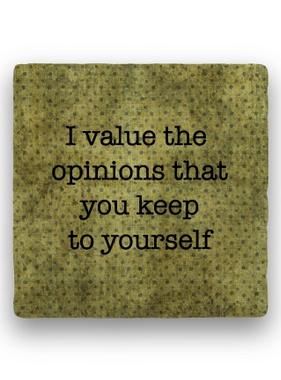 i value the opinions Coaster - Natural Stone