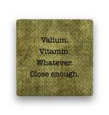 valium vitamin Coaster - Natural Stone