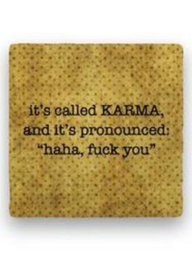 it's called karma Coaster - Natural Stone
