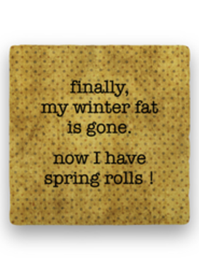 finally my winter fat Coaster - Natural Stone