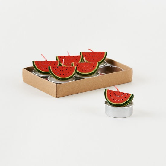 """Watermelon T-Light, 6 Asst, Gift Box, 1.5"""""""