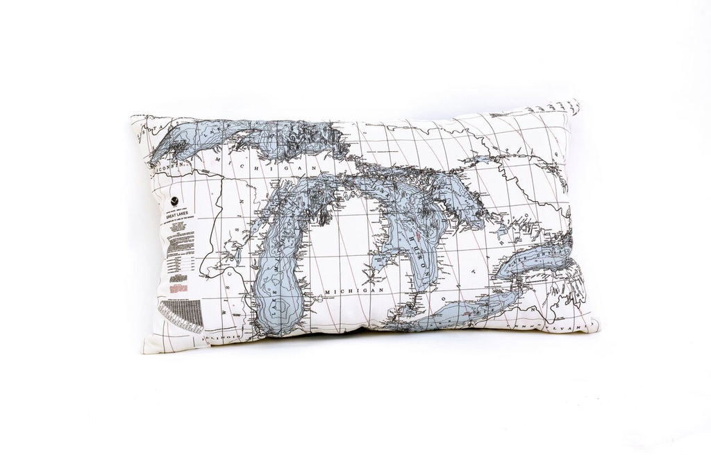 "Great Lakes Indoor/Outdoor Pillow 24"" x 14"""