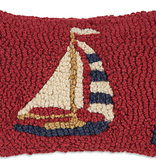 """Sky At Night Hooked Wool Pillow 8"""" x 12"""" (D)"""