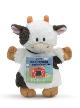 Old MacDonald Had a Farm Cow Puppet Book