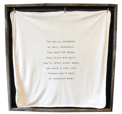 """Baby Blanket - You Are My Sunshine - 36"""" x 36"""""""
